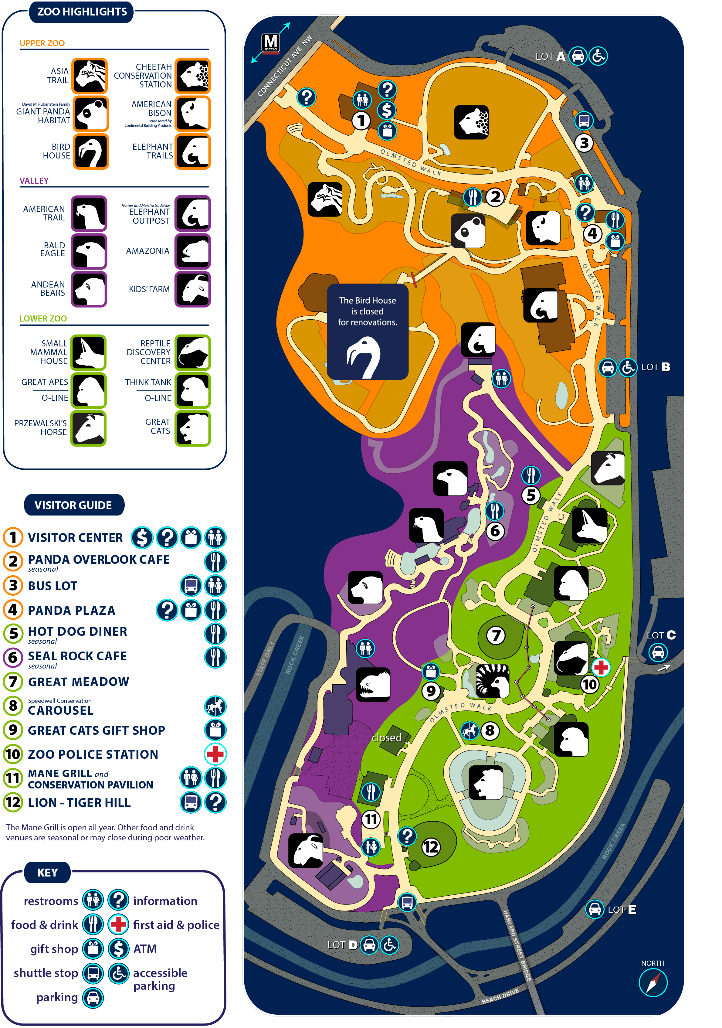 Smithsonian Zoo Map 2018 Revised Zoo Map_10.22.18 | Smithsonian's National Zoo
