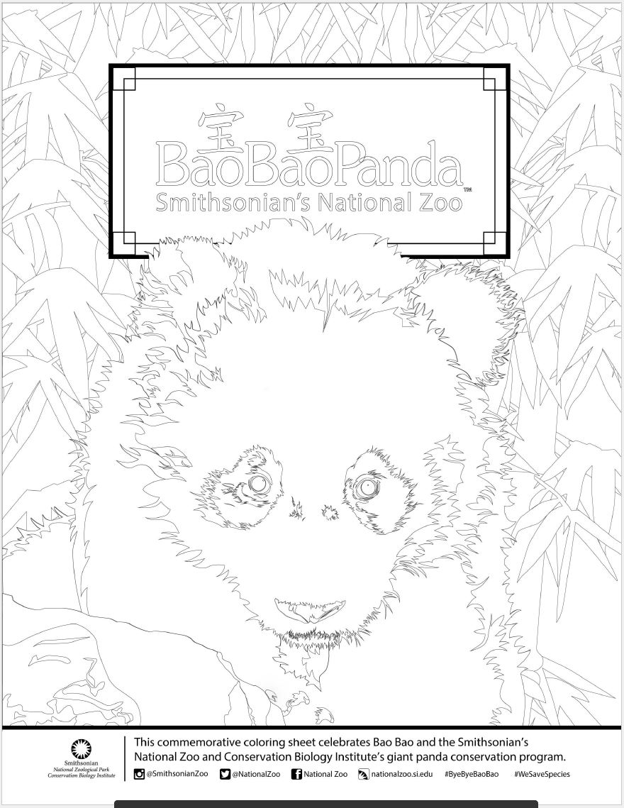 bye bye bao bao commemorative coloring page smithsonian u0027s