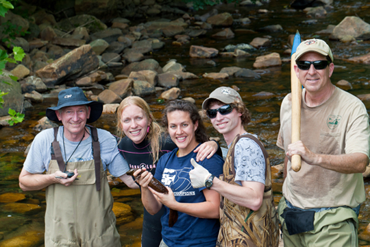 The hellbender team. Photo courtesy of Jeff Storey