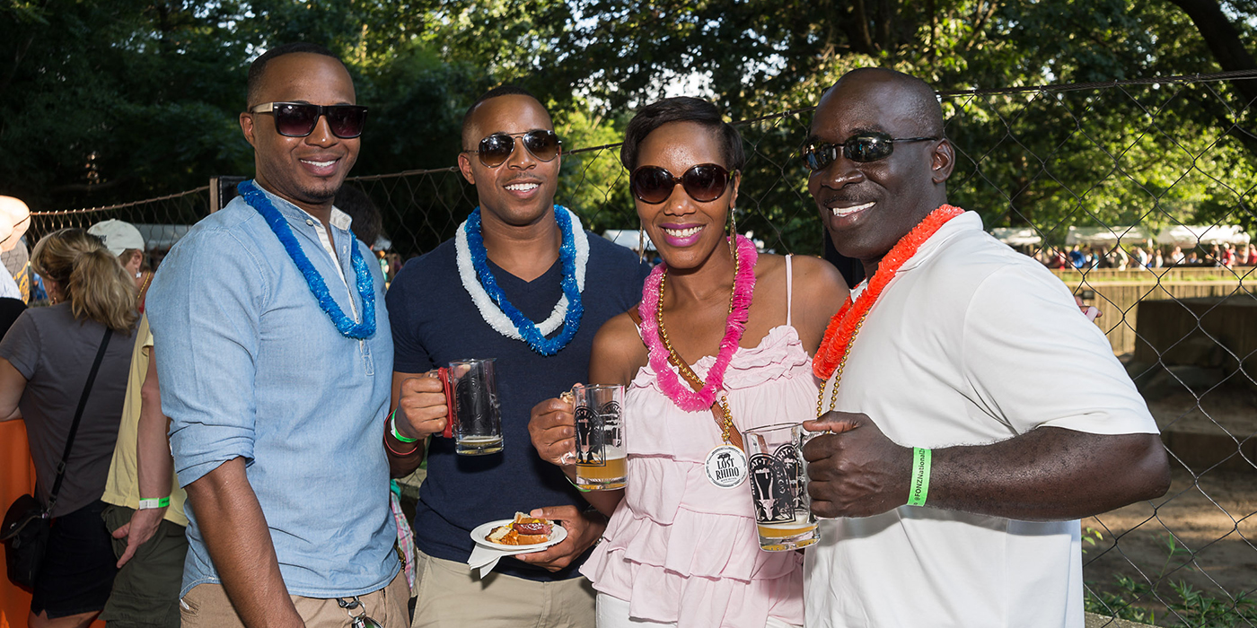 guests attending Brew at the Zoo