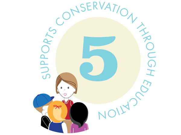 Support conservation through education