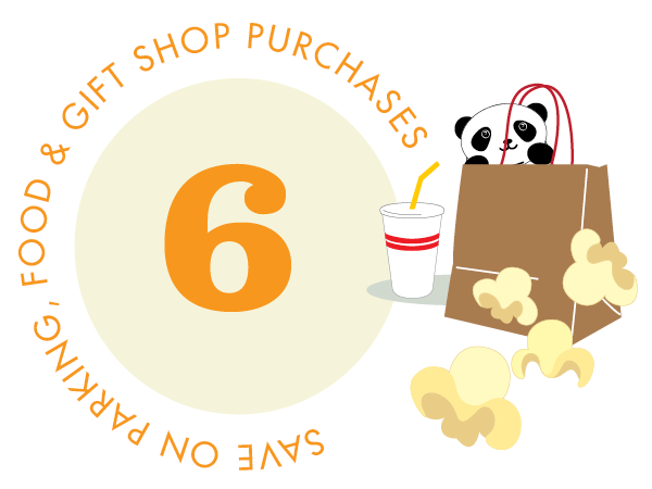 Save on parking, food, and gift shop purchases