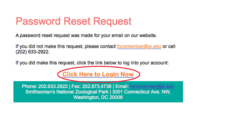 screenshot of member login page instructions highlighting link to log in