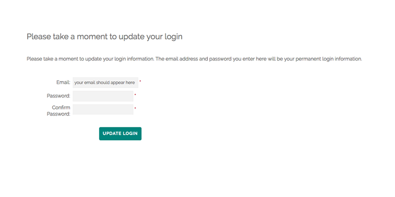 screenshot of member login page instructions highlighting how to complete the login process