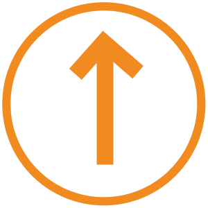 icon of one-way path