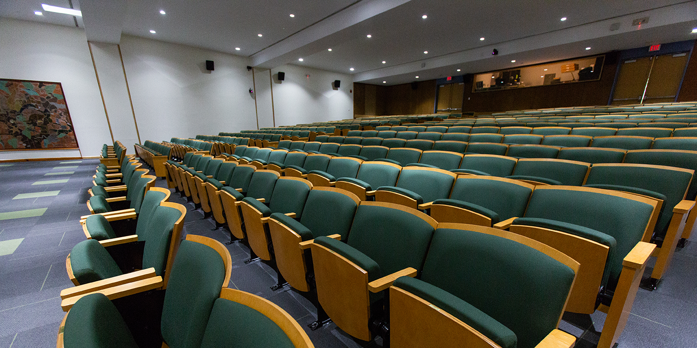 an auditorium full of empty seats