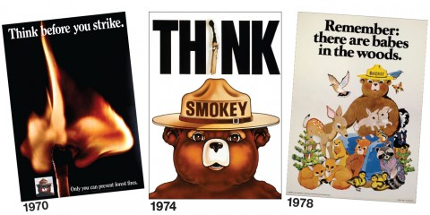 Smokey Bear Posters from the 1970s
