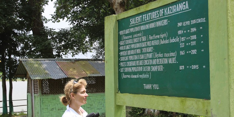 Smith visits Kaziranga National Park.