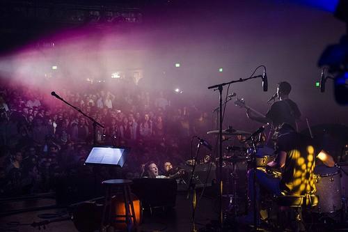 band in auditorium