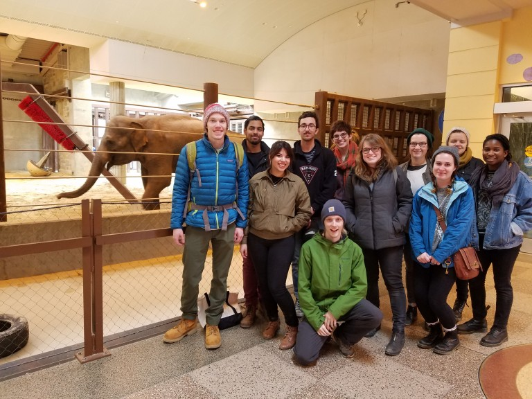 MICA students in the Elephant Community Center