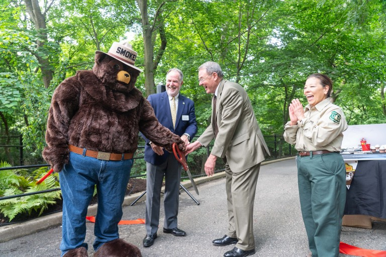 Following remarks, Smokey Bear; Steven Monfort, John and Adrienne Mars Director, Smithsonian's National Zoo and Conservation Biology Institute; Jim Hubbard, Under Secretary for Natural Resources and Environment at the U.S. Department of Agriculture; and P