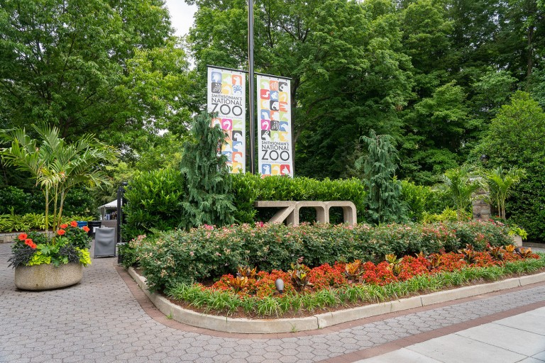 Pedestrian entrance to the Smithsonian's National Zoo on Connecticut Ave.