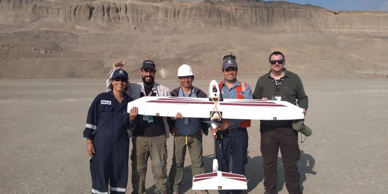 Center for Conservation and Sustainability team with a drone in Peru