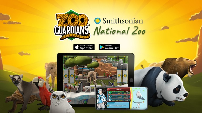 """The furry, feathered and scaly world of zoos, animal care and conservation comes to life in """"Zoo Guardians,"""" a new mobile game launched today by the Smithsonian's National Zoo and Conservation Biology Institute in partnership with JumpStart Games."""