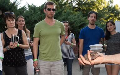 animal demo at brew at the zoo