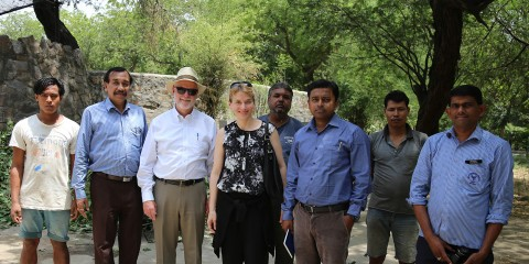 Kelly and Smith with colleagues in India