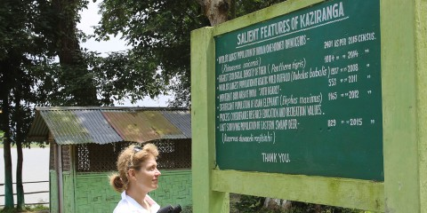 Smith visits Kaziranga National Park.
