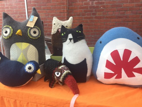 Animal Plush Made By TigerFlight for GRUMP Holiday Market