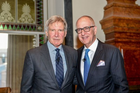 Harrison Ford and Smithsonian Secretary David Skorton