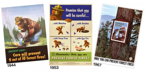 Smokey Bear Posters from the 1940s, 50s and 60s