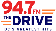 94.7 FM the drive logo