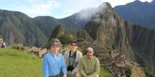 Craig Saffoe, Don Neiffer and Francisco Dallmeier at Machu Picchu