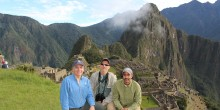 Craig Saffoe, Don Neiffer and Francisco Dallmeier at Machu Picchu