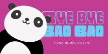 Bye Bye Bao Bao Event Artwork