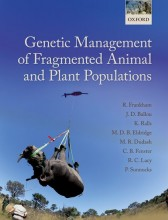 "The cover of a textbook titled ""Genetic Management of Fragmented Animal and Plant Populations"""