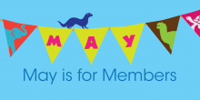 May is for Members Artwork with Flags