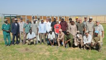 the oryx collaring team