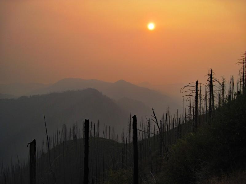 Smoke shown after extensive wildfire in Klamath region