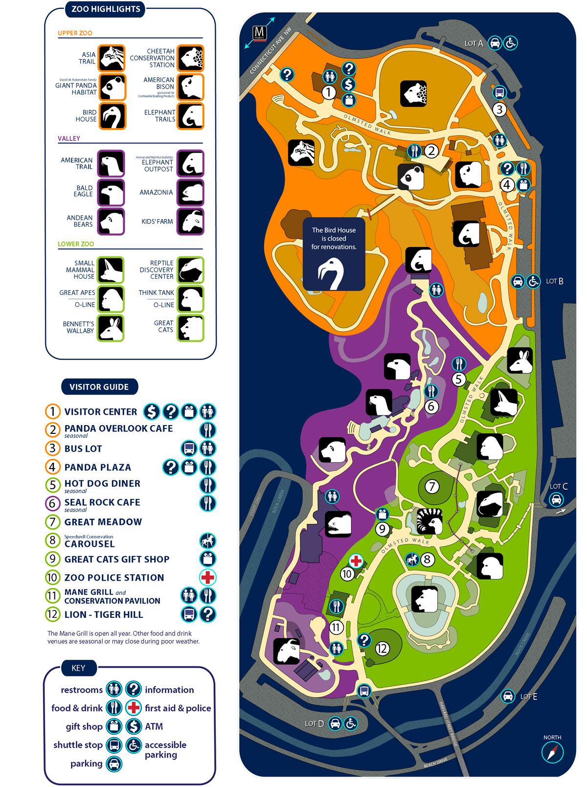 Zoo Map | Smithsonian\'s National Zoo